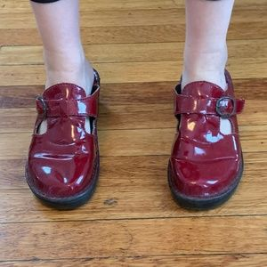 Red Patent Leather Clogs
